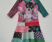Size 5 (42 3/4 inch) upcycled, unique and repurposed dress Chihuahua