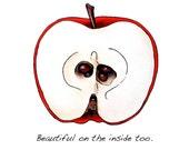 Apple Art Print, Inspiring Words