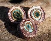 Handmade Stoneware Shank Button Set of Three