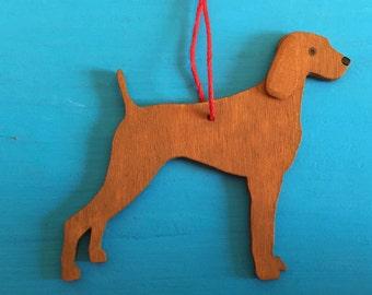 Hungarian Vizsla Dog - Handpainted Wood Ornament Decoration