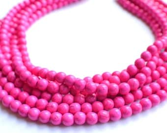 The Michelle- Hot Pink Magnesite Statement Necklace