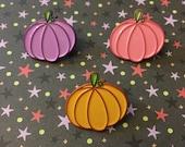 Pastel pumpkin enamel pin