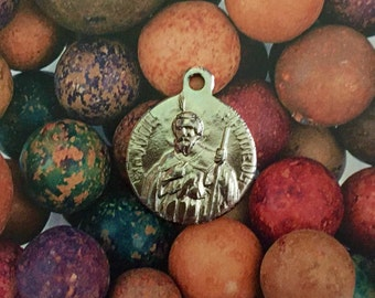 SAINT JUDE MEDAL Vintage Religious Patron Saint of Impossible Situations