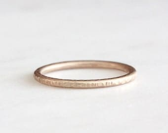 14k rose gold twig ring, textured band, handmade, bark texture ring, recycled wedding ring, wedding ring