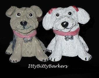 Custom Clay Dog Sculpture, Dog Sculpture, Pet Sculpture, Figurine, keepsake, Dog Portrait