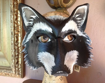 Raccoon mask, animal mask, leather mask by Faerywhere masks