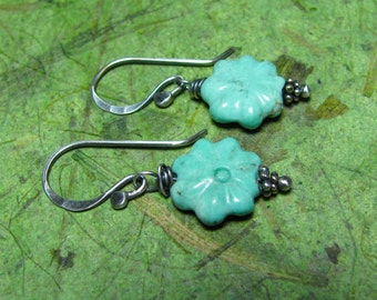 Stella Blue - Turquoise and Sterling Silver Earrings