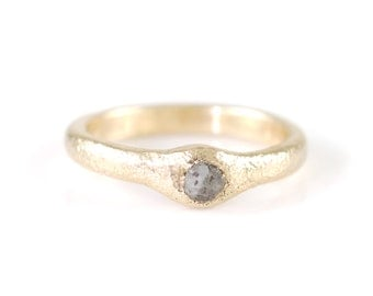 Sands of Time Engagement Ring in 14k Yellow Gold - Size 5 3/8 - Ready to Ship