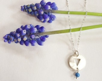 Water Necklace with Lapis Lazuli