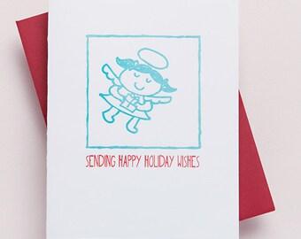 BOXED SET OF 6 - Angel Christmas Card