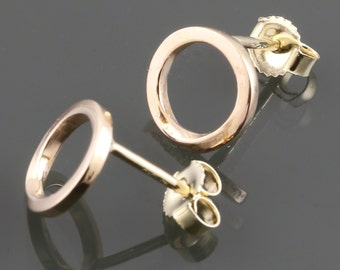 14 Karat Yellow Gold Mobius Stud Earrings s16e012