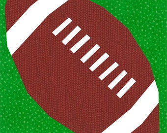Football With Laces, a block to paper piece PDF
