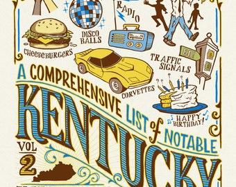 Ky Inventions V2 - Screenprinted Art Print