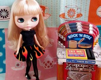 SUMMER SALE   Fifties Sweater Girl and  Circle Skirt Rock n Roll Jive Set - Black