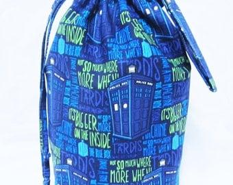Medium Knitting Project Bag - Dr. Who