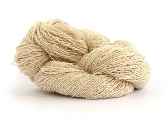 Pure banana yarn, sport 4ply undyed boucle natural fiber knitting crochet weaving vegan silk yarn, Perran Yarns ecru cream, uk seller