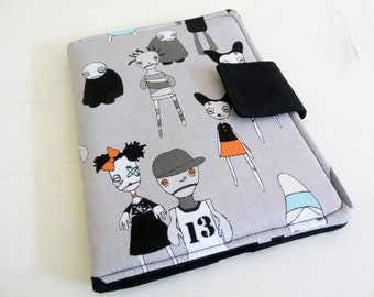Zombie Print Kindle Paperwhite Cover, Cute Zombies Kindle Touch Case