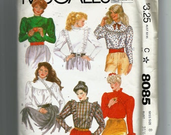 McCall's Blouses Pattern 8085