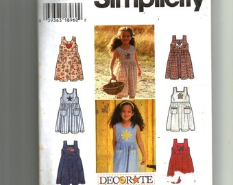 Simplicity Child's Sundress and Jumper Pattern 7155