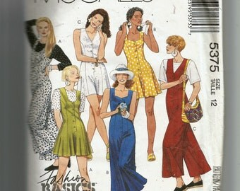 McCall's Misses' Jumpsuits In Two Lengths and T-Shirt For Stretch Knits Only Pattern 5375
