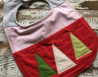 30%OFF SUPER SALE- Christmas Tree Bib-Wee Ones Bib-Tshirt Collection-Toddler Size-Modern Christmas