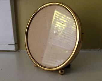 Gold Round Frame / Brass / Tabletop