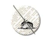 Rabbit needle minder magnet cross stitching sewing tool sewing notion wife gift under 10 stocking stuffer Woodland animals