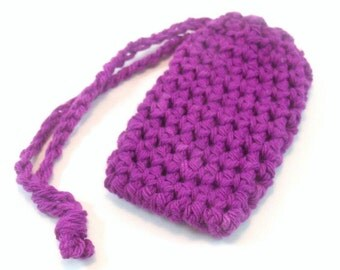 Crochet Soap Saver, Cotton Soap Saver, Purple Crochet Soap Saver, Crochet Soap Sack, Crochet Soap Bag, Reusable, Ecofriendly