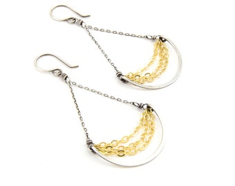 Delilah Earrings- sterling silver, gold fill
