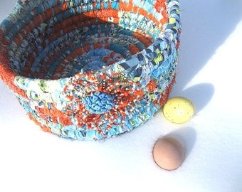 CONTRARY  textile art BASKET tote Bucket
