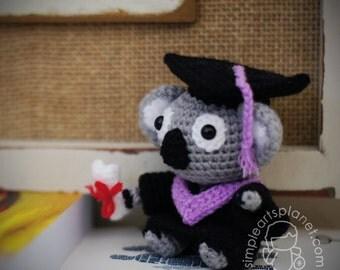Graduation Koala Amigurumi Pattern