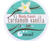 Cardamom Vanilla Shea Butter Body Cream - Best Selling Scent - Vegan and Cruelty Free - 95% natural