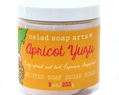 NEW - Apricot Yuzu Whipped Soap Sugar Scrub - vegan and cruelty free