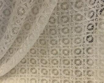 Lace Fabric Circle Crochet  1 Yard