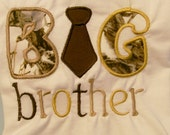 Boys Camo Big Brother Tee Shirt, Embroidered Tee, Little Boys Tee, Gift For Boys #105