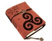Triskele, Celtic Journal, Leather, Handmade, Celtic Knot