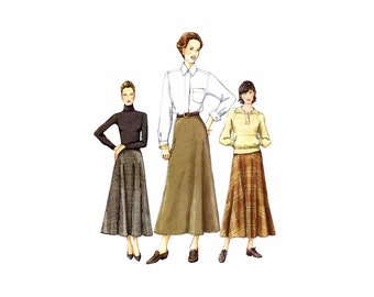 Misses Aline Flared Above Ankle Skirt Vogue 7341 Sewing Pattern Size 8 - 10 - 12 Waist 24 - 25 - 26 1/2 UNCUT