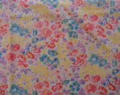 Vintage Floral Light weight Cotton Fabric Haven Fabrics Yardage 2 Yards