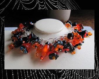 Halloween Flower Garden Bracelet EHAG
