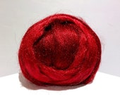 Garnet red Firestar, Needle Felting, Spinning Fiber, deep red, ruby .5 oz, Firestar is similar to Icicle Top, Valentine, Christmas