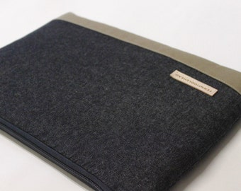 iPad Pro 10.5 inch or 12.9 inch Case, iPad Air 2 Cover, iPad mini Sleeve iPad Case - Black Denim
