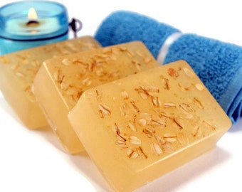 Oatmeal Milk and Honey Soap, Honey Oat Soap Bar