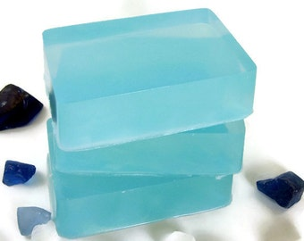 Sea Glass Soap, Homemade Soap Bar, Detergent Free Soap