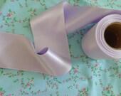 1 yard of vintage beautiful lavender satin ribbon