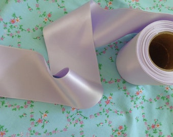 1 yard of vintage beautiful lavender satin ribbon