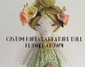 Custom Forest Creature Doll Crown