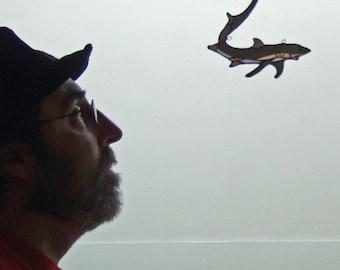 Stained Glass Thresher Shark for Shark Week