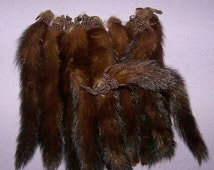 HURRICANE SALE Vintage Mink Tails Embellishments  Millinery Boudoir French Dolls Steampunk Costume