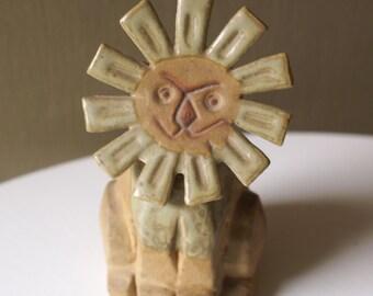 Mid Century Lion Figurine, Stoneware