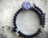 Purple Row Counter Bracelet for Knitting or Crochet Count to 100